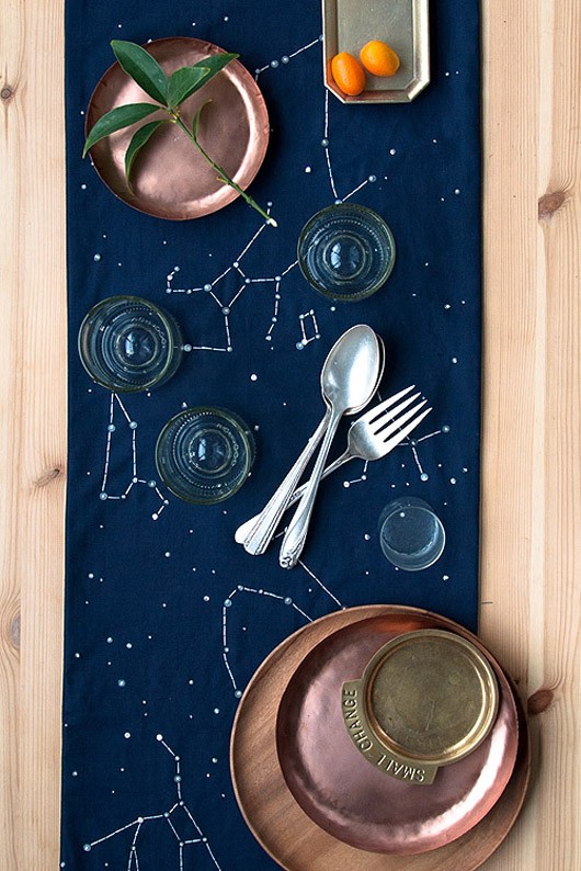 Birch + Bird: Constellation Runner DIY via Design*Sponge.