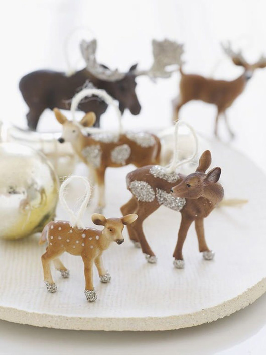 Birch + Bird: Glitter deer by Sweet Paul Magazine