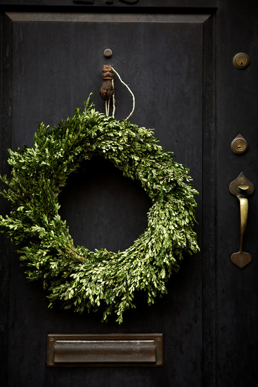 Birch + Bird: Boxwood wreath. Photo by Nicole Franzen.