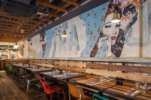 Birch + Bird: Jaimie Oliver's Trattoria. Interior Design by Blacksheep.