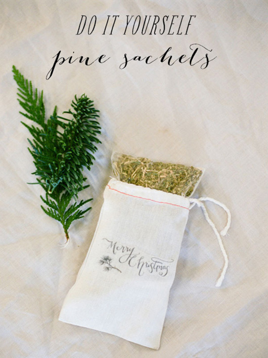 Birch + Bird: DIY Pine Sachets via Style Me Pretty. Photo by White Loft Studio.