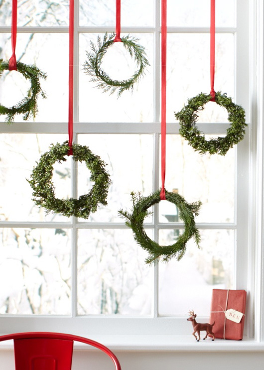 Birch + Bird: Mini wreathes by Martha Stewart