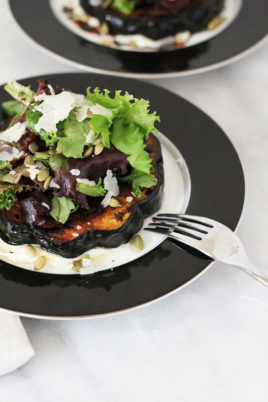 Lark & Linen: Roasted acorn squash with mascarpone