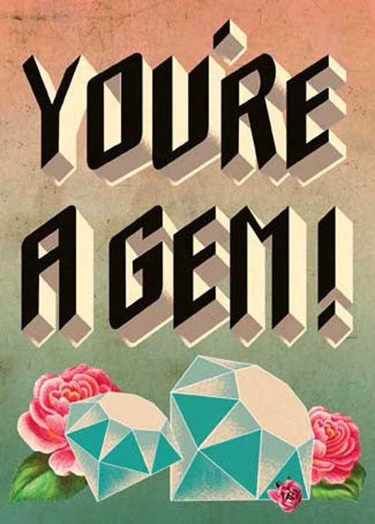 "Cartolina ""You're a Gem"" Card"