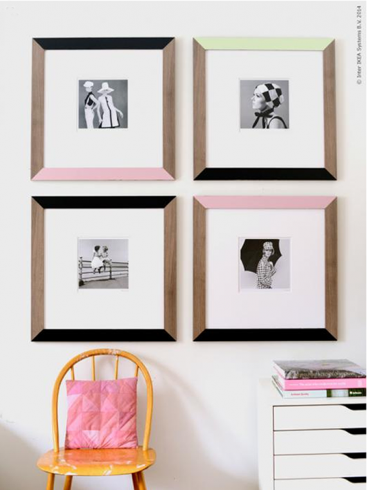 Ikea Hack, Jallvik colour blocked frames. Photo by Livet Hemma.