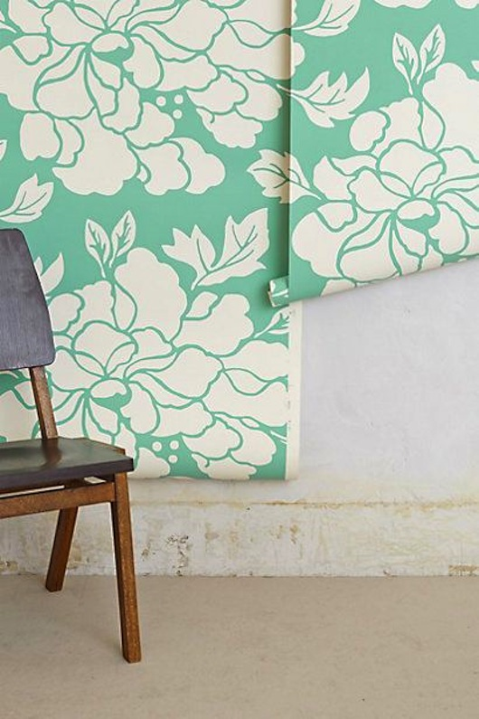 "Anthropologie ""Paeonia"" Wallpaper"