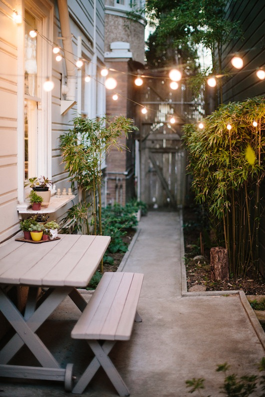 Patio. Home of Kate Davison + Jesse Hayes via This is Brick + Mortar. Photo by Colin Price.