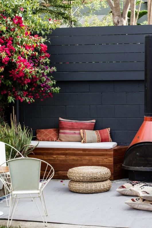 Built in patio benches by Smitten Studio