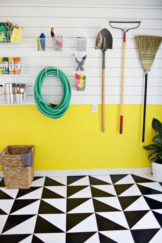 DIY vinyl tile floors by A Beautiful Mess