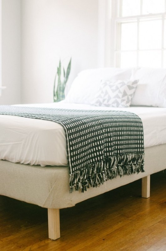DIY Upholstered Bed Frame | Apartment Therapy