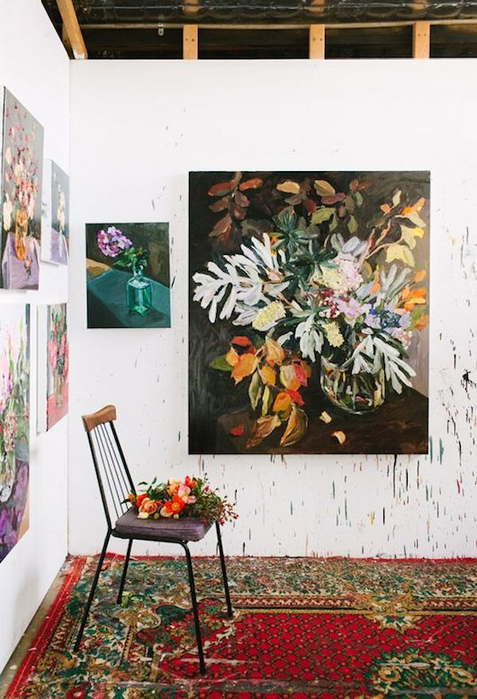 Laura Jones' Studio. Photo by Rachel Kara for The Design Files.