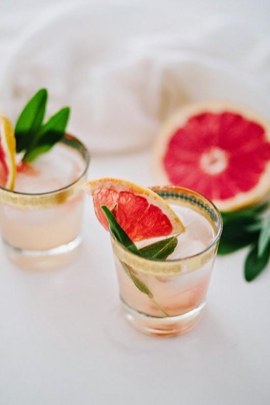 Grapefruit Sage Mimosa | Shannon Kirsten