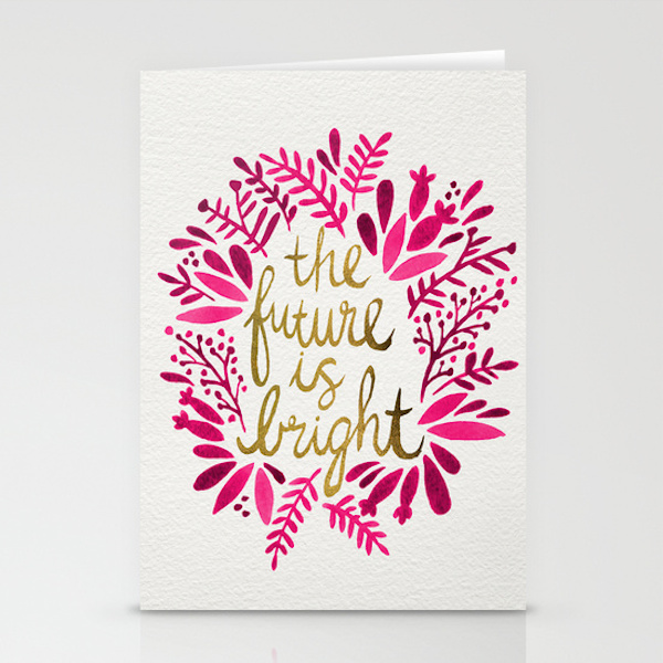 The Future is Bright Card by Cat Coquillette | Society6